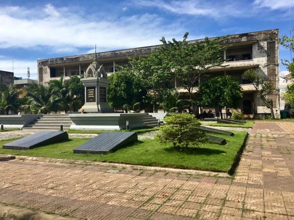 Kambodscha, Phnom Penh - Mahndenkmal im Foltergefaengnis S21