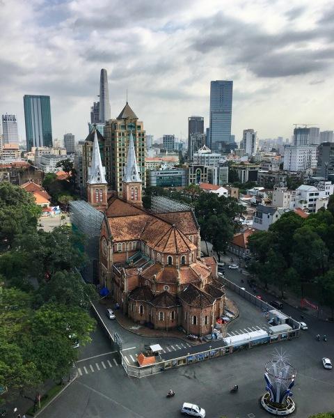 Vietnam, Ho Chi Minh City - Blick auf die Notre Dame Kathedrale