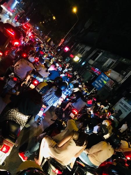 Vietnam, Ho Chi Minh City - Rollerverkehr