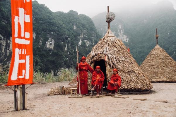 Vietnam, Tam Coc - Trang An, traditionelles Dorf auf Skull Island