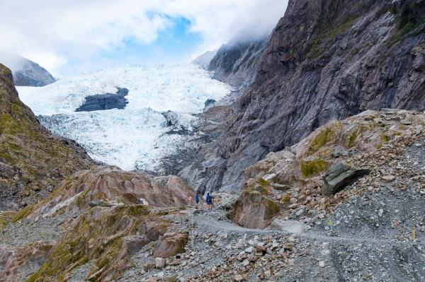 Blick auf den Franz-Josef Gletscher