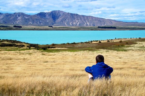 Blick auf den Lake Tekapo