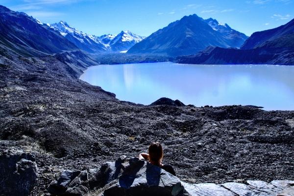 Blick auf den Tasman Gletscher