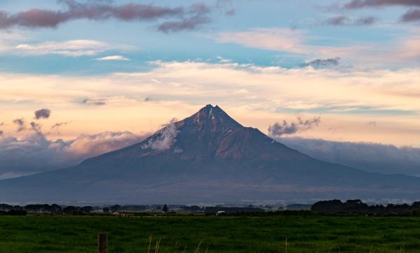 Aussicht auf den Mount Taranaki vom Highway 45 1