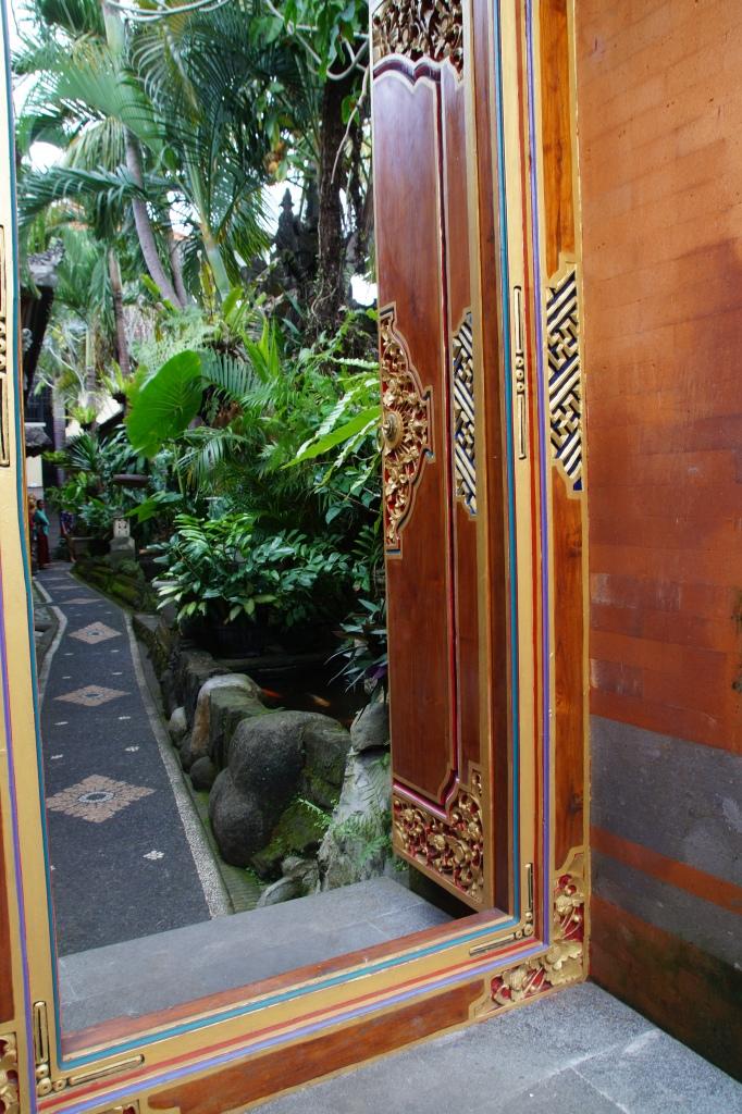 Beeindruckende Hauseingänge in Ubud