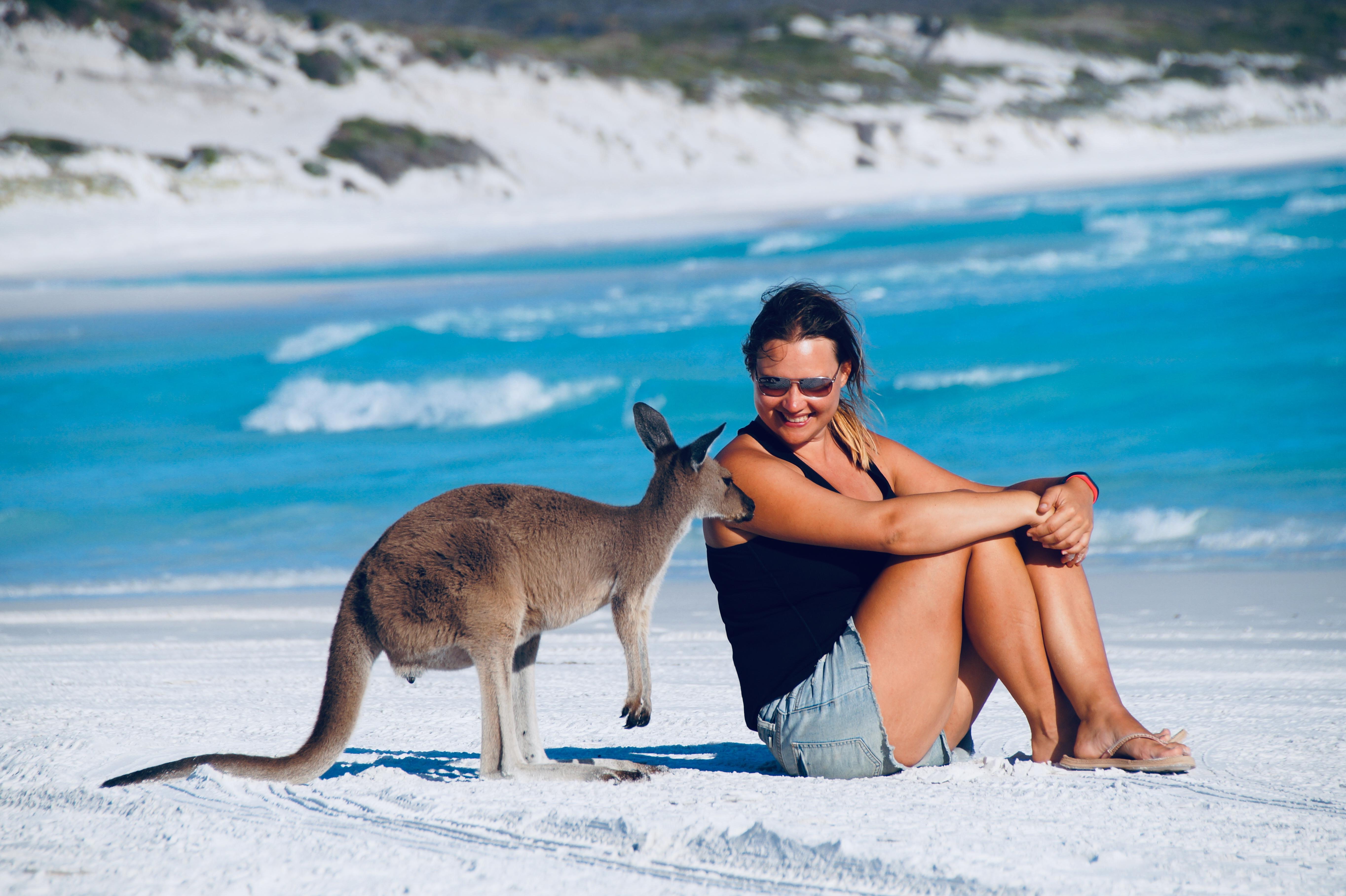 Roadtrip durch Australien: Lucky Bay, Esperance