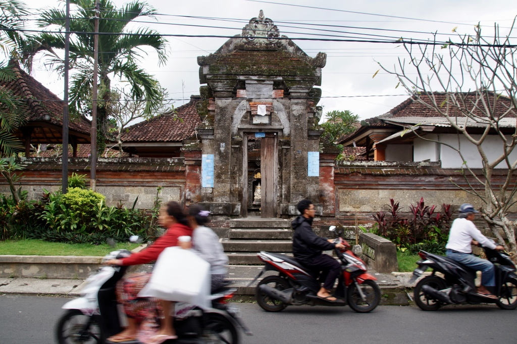Die Straßen von Ubud